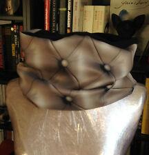 Snood col tour cache cou echarpe en polaire réversible noir /tissu capiton