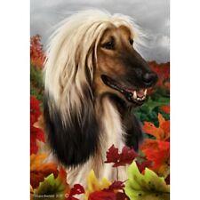 Fall Garden Flag - Afghan Hound 130871