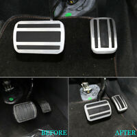 For Peugeot 3008 GT 2016-2018 AT Car Fuel Brake Pedals Foot Rest Pads Cover Trim