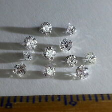 100% Natural White Diamonds Loose 2.50 mm VS Color G  Round Brilliant Cut.