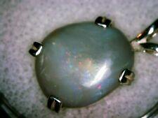 Sterling Silver Australian Black Opal Pendant