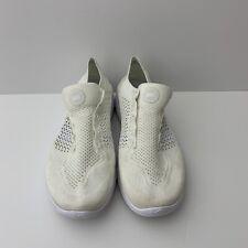 Nike Free RN Flyknit 2018 Shoes Triple White 942838-103 Sz 12 No Laces