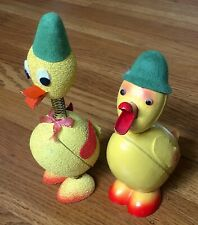 Vintage Paper Maché Ducks from West Germany, Easter containers