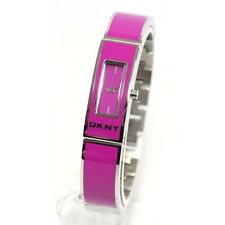 DKNY NY8759 Woman's Purple Fuschia Enamel Stainless Steel Watch NY8759