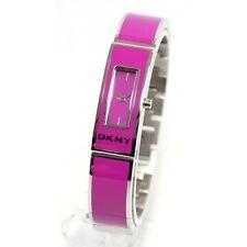 DKNY NY8759 Woman's Purple Fuschia Enamel Stainless Steel Watch NY8759