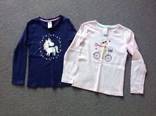 23f45fd62676c9 Pre-Owned Target Girls Long Sleeved Tops X2 Pink   Blue Size 5