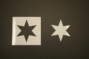 Six Pointed Star Reusable Mylar Stencil - Art Supplies