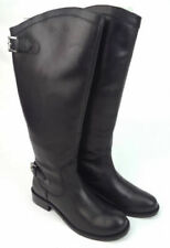 Ladies' Leather Redfoot Riding-Style Boots Black UK 3