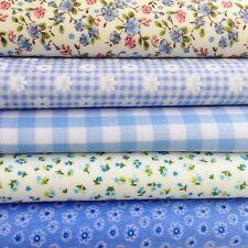 En Polycoton Tissu Artisanat Bleu Daisy Fleur Floral Bunting Vendu Par Demi-mètre
