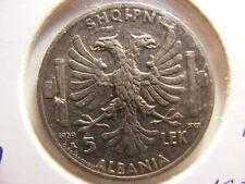 Albania 1939 5 Lex, Xf, Km#33