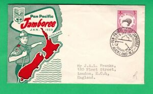 New Zealand FDC 1959 Pan Pacific Boy Scout Jamboree first day cover souvenir UK