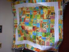 HANDMADE TRADITIONAL PATCHWORK QUILT LARGE SIZE COUNTRY SUNRISE