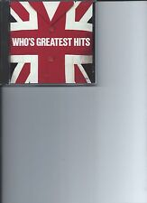 THE WHO'S GREATEST HITS 13 SONG MUSIC CD MCA RECORDS