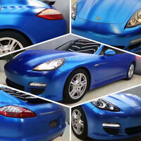 0.75M*1.52M Gloss Metallic Jazz Blue Car Wrap Vinyl Film Sticker Air Bubble Free