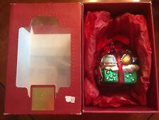 Lenox Yuletide Treasures Christmas Blown Glass Ornament Sports Football New Nib
