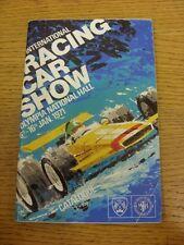 06/01/1971 Motor Racing Programme: International Car Racing Show, At Olympia Nat