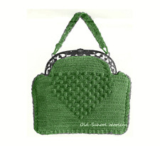1930s Purse Handbag Bag Vintage Crochet Pattern Reproduction Copy