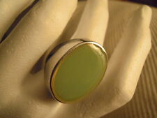 MDP MILANO anello  in fusione di alluminio e pasta di vetro VERDE ACQUA ovale