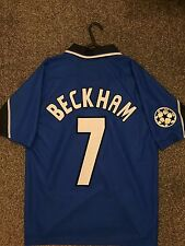 MANCHESTER UNITED 1997/98 CHAMPION LEAGUE AWAY SHIRT ADULTS(S) 7 BECKHAM