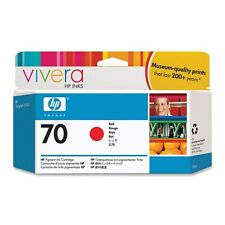 HP 70 Red Colour Ink Cartridge (130ml) with Vivera Ink