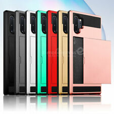 For Samsung Galaxy Note 10 Plus 5G/S7 edge/S9/S8 Case With Card Wallet Holder