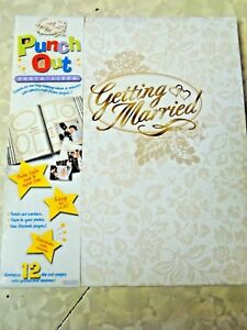 Punch Out Getting Married Wedding Album NEW!