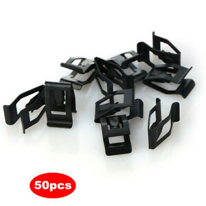 50x Auto Car Front Interior Console Dash Dashboard Trim Metal Retainer Clips