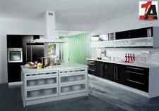 Einbauküche Hochglanz schwarz KOCHINSEL KÜCHE Musterküche ERGO