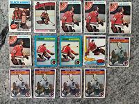 Tony Esposito 14 Card Lot Topps O-pee-chee #240,100,250,80,64