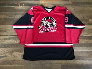 """Rapid City Rush Authentic Red Jersey ECHL 19 """"Cook"""""""