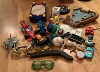 Huge Toy & Game Lot Boys Air Hockey Baseball Spy Glasses Yoyo Compass Puzzle car
