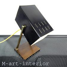 60er Kaiser Tisch Lampe Lese Leuchte Teak Holz Cube Design Light Desk Lamp 60s