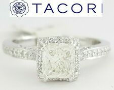 1.27 ct TACORI Dantela 2620PRMDP 18k Gold Princess Diamond Halo Engagement Ring
