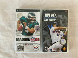 2 LOT: SONY PSP PLAYSTATION PORTABLE VIDEO GAMES MADDEN 06 & MLB 07 THE SHOW D22