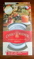 Brand NEW Halo Signature CANDLE WARMER with HOT PLATE and LIGHT NIB; White