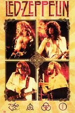 #Z121 Led Zeppelin Music Band Poster 24x36