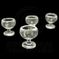 4 x Plastic Cup Wineglass 1:12 Doll's House Dollhouse Miniature