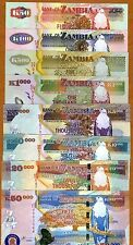SET Zambia, 50;100;500;1000; 5000;10000;20000;50000, 2007-2011 P-New, UNC