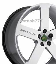 4 -AMG Decal Sticker  wheels rims Mercedes Benz Sport Racinig emblem logo SILVER
