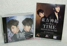 TOHOSHINKI TVXQ TIME Taiwan Ltd CD+DVD+Card+Postcard (Ver.B) Dong Bang Shin Ki