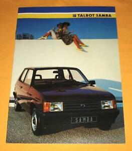 Talbot Samba Cabriolet Rallye 1985 Prospekt Brochure Depliant Catalog Prospetto
