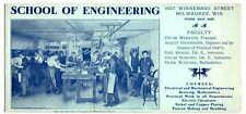 MILWAUKEE SCHOOL OF ENGINEERING INK BLOTTER CA 1925