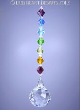 m/w 30mm Swarovski Crystal Mozart Ball +Large Chakra Beads Lilli Heart Designs