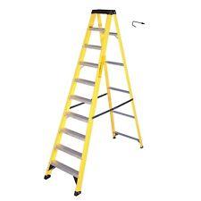 4x Electricians Heavy Duty Tread Fibreglass Fibre Glass 10 Step Ladder