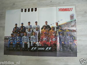 105 FORMULE ONE POSTER ALL DRIVERS SEASON 2000 OR 2001,SCHUMACHER