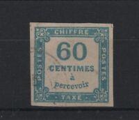 "FRANCE STAMP TIMBRE TAXE YVERT N° 9 "" CHIFFRE TAXE 60c BLEU "" OBLITERE TB T703"
