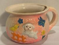 Vintage Easter Planter Spring Decor