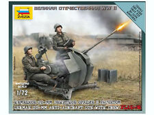 Zvezda - German 20mm anti-aircraft gun with crew FLAK-38 - 1:72