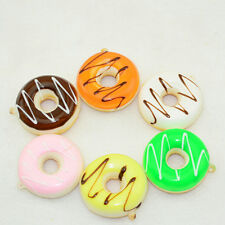 1PC Fashion Soft Squishy Colorful Donuts Cell phone Charms Chain Cute Strap New