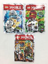 Lot 3 Figurine Minifigure Lego Ninjago Nya Zane Bucko Limited Edition Neuf